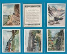 Collectable cigarette cards set Railway Travel, 1937 by Churchman